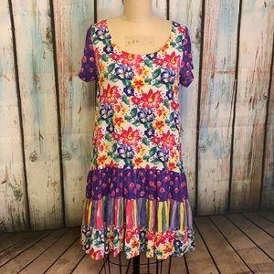 90's Vintage Wear 2 Go Floral Print Dress Sz M